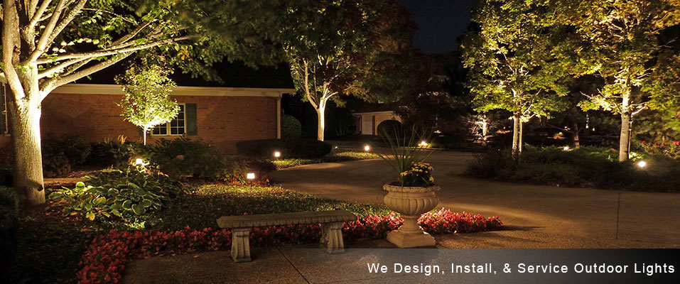 We Design Install & Service Outdoor Lights